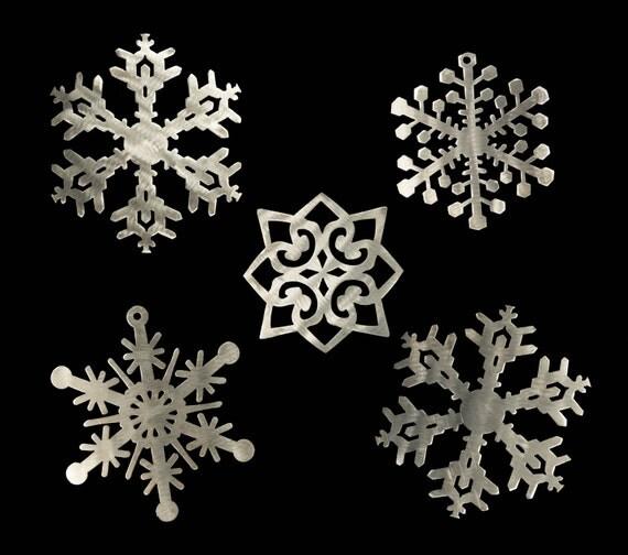 Steel Snowflake Set