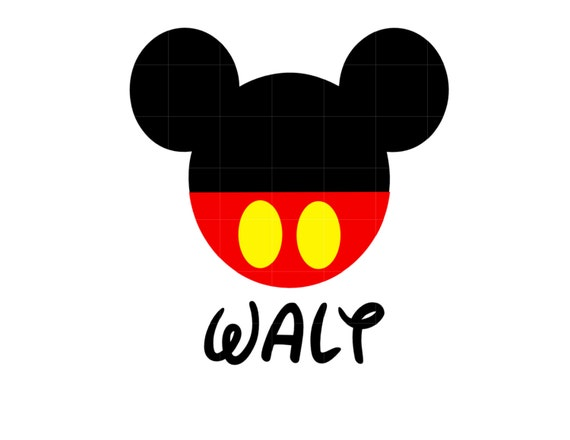 Iron On Mickey Mouse With A Name