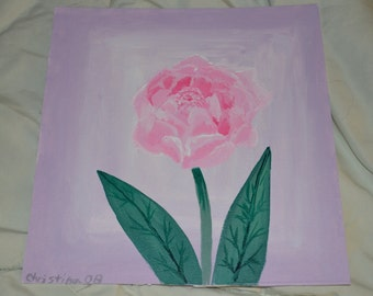 Peonies flower painting