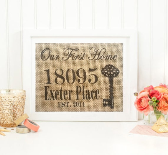 Unique Housewarming Gift Personalized Family By