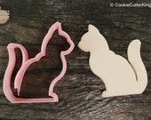 Gentle Cat Animals Collection Cookie Cutter, Mini and Standard Sizes, 3D Printed
