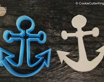 Nautical Bar Anchor Cookie Cutter, Mini and Standard Sizes, 3D Printed