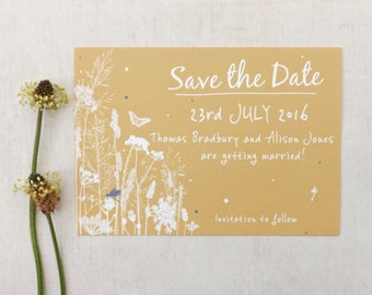 Hedgerow Rustic Wedding Save The Date A6