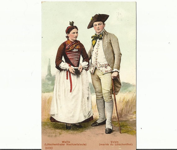 Traditional Swiss Costumes Wallis and