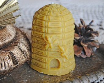 Beeswax Beehive Candle - birthday present, party filler - Beehive - Xmas, Christmas Table Centre Piece