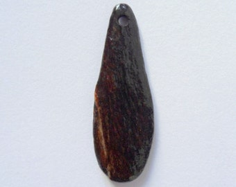 Pebble Pendant, Drilled Stone, Drilled Pendant, Beach Pendant, Stone Pendant, Drilled Beachstone, Drilled Pebble
