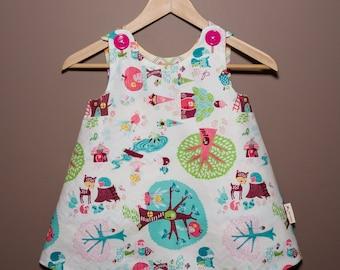 Reversible Girls Dress-Fairies