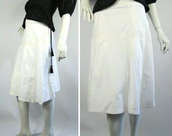 ISSEY MIYAKE white designer SKIRT Made in Japan