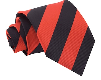Striped Red & Black Tie