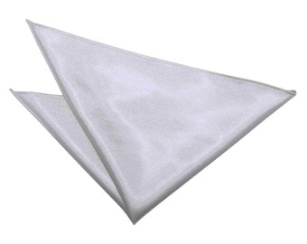 Satin Silver Handkerchief / Pocket Square