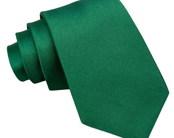 Satin Emerald Green Extra Long Tie