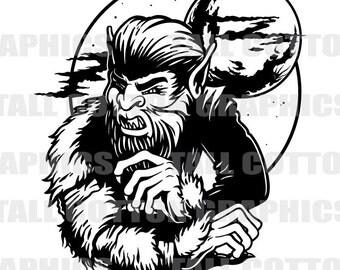 Werewolf w/moon Vinyl Decal #FAN018