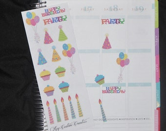 Birthday Sticker Set