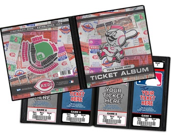 Personalized Cincinatti Reds Ticket Album