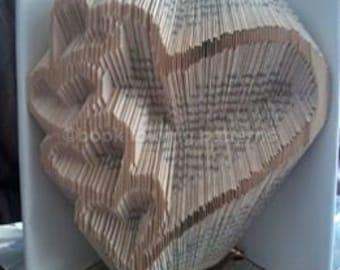 5 inverted Heart Book Folding Pattern