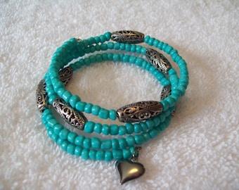 Torquoise Memory Wire Bracelet