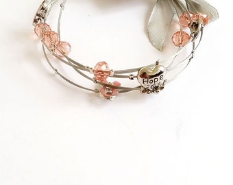 Hope (Pink) Wired Bracelet