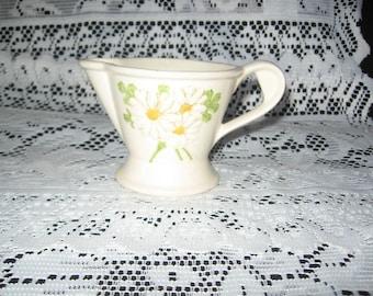 Metlox Sculpure Daisy Creamer/Metlox Dinnerware/Vintage Dinnerware