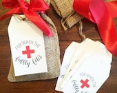 Hangover Kit Tags, Bachelorette Favor or gift, survival kit, wedding hangover kit, wedding favor, welcome bag for wedding guests