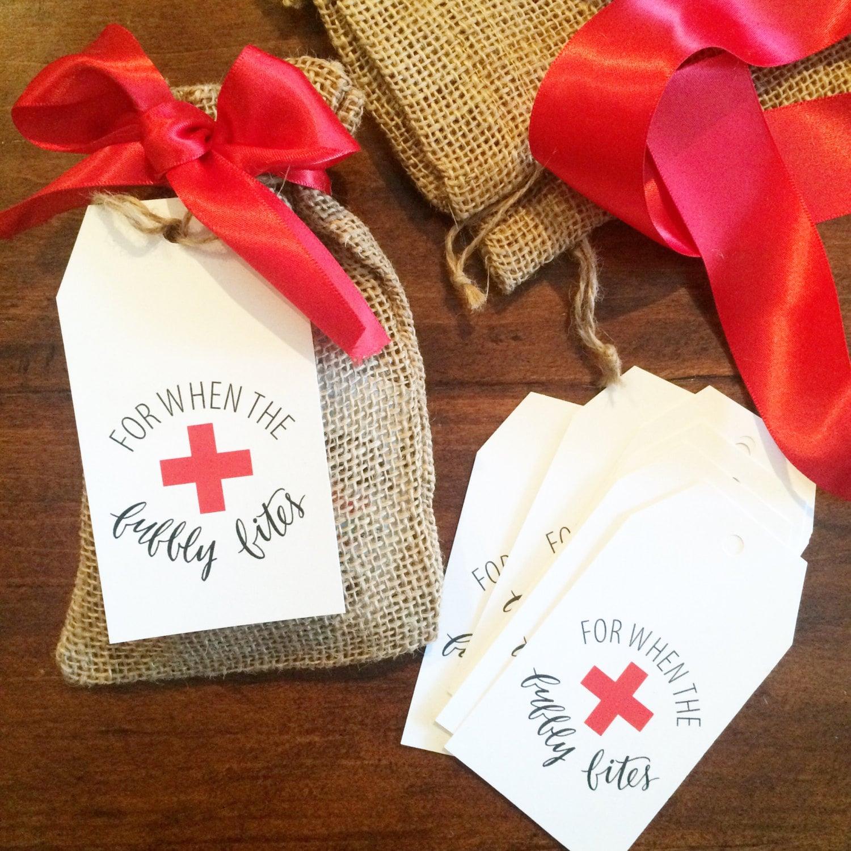 Wedding Favor Tag Kit : Hangover Kit Tags Bachelorette Favor or gift survival kit