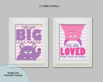 Little Monster, Wall Art, Monster Prints, Monster Nursery, Children's Bedroom Decor, Boy Bedroom, Girl Bedroom, Girl Monsters, Boy Monsters