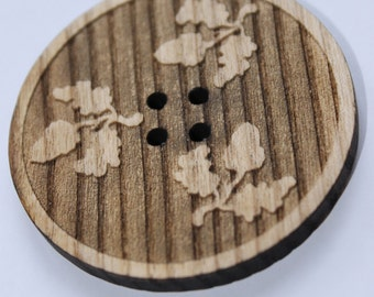 Wooden decorative buttons