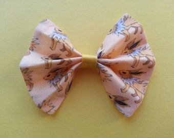 Pokemon Jolteon Cotton Fabric Hair Bow
