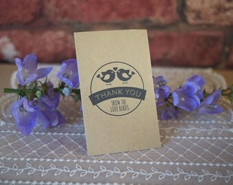 20 wedding favour seed packets vintage shabby chic eco