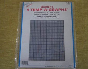 EZ Quilting,Quilter's 4 temp-a-graphs,textured template plastic