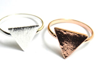 Silver Plated Triangle Ring