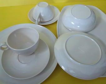 Vintage Off White Stetson Melmac Dinnerware Set 1960s