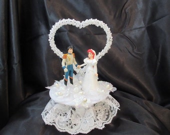 little mermaid and prince eric wedding cake topper items similar to watercolor painting of ariel and prince 16909