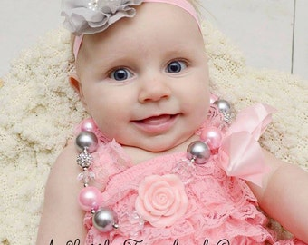 SALE chiffon ruffle flower headband, gray Flower headband, newborn headband,baby headband, infant headband, pink headband, lavender headband