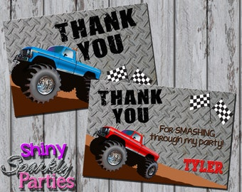 Printable MONSTER TRUCK THANK You Card - Monster Truck Thank You Note - Monster Truck Party - Monster Truck Card - Boy's Thank You Card