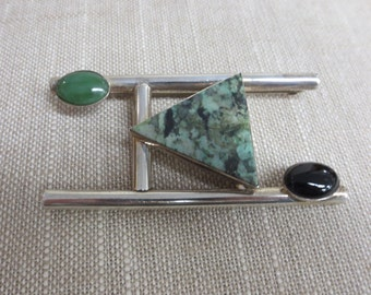 Geometric Hand Crafted Brooch