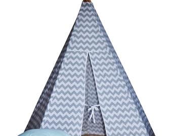Teepee - grey chevron