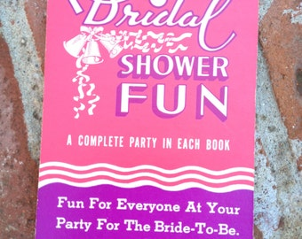 Vintage Bridal Shower Game Book