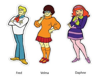Scooby Doo Character Wall or Car Decals.Giant Stickers Decorations