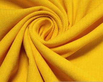Fabric pure cotton corduroy yellow 1 mm needlecord
