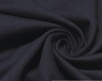 Fabric pure cotton single jersey dark blue roughened sweatshirt