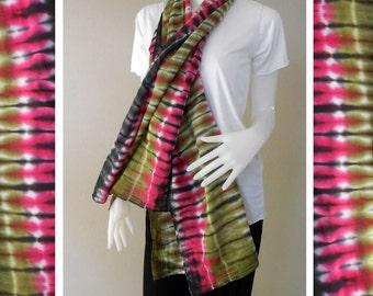 Ladies 100% Tie Dye Cotton Scarf Multi-Color Shawl Women wrap shawl (12)