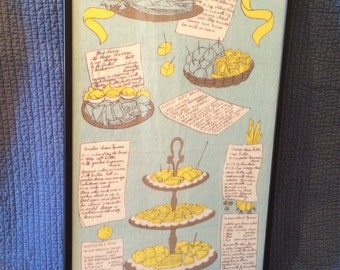Vintage Cheese Appetizer Cloth Framed