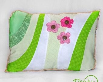 """Pillow """"Flower Love"""",40x60 cm, pink&green"""