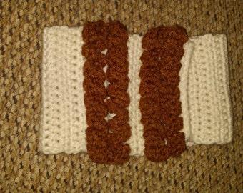Crochet ruffle ear warmer