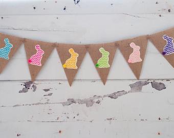 Easter Banner, Easter Decor, Easter Bunny Banner,  Easter Photo Prop, Bunny Banner, B193