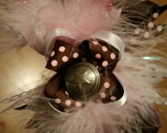 Cowgirls rule boutique bow