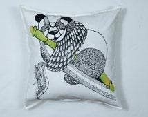 """Handmade organic cotton pillowcase """"Ivo"""""""