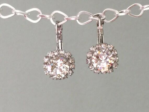 Crystal Bridal Earrings, Clear Crystal Earrings, Swarovski Crystal Earrings, Bridesmaid Earrings, Bridal Earrings, Swarovski Bridal Earrings