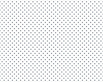 1 Yard- NAVY  Swiss Dot by Riley Blake Designs- C660-21