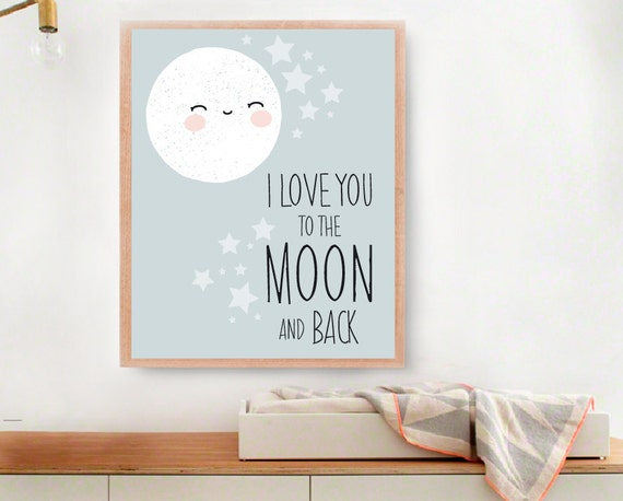 Baby Art Print I Love You To The Moon And Back By